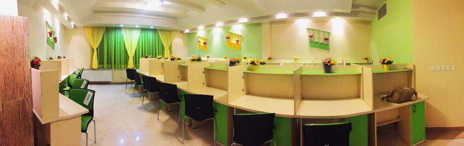 فضای داخلی خانه سبز